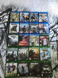 Loads of PS4 and Xbox one games .