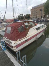 Boat. Seamaster Cruiser. URGENT SALE. 8.6m (28 foot). 2 berth. Kitchen. Perkins Diesel.