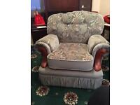Chair & two seater sofa