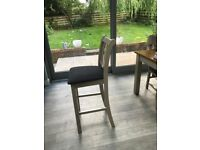 Stration Bar stools - stone painted x 2