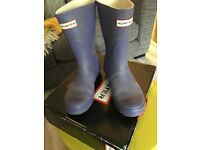 👀 👣HUNTER Ladies size 5 short Purple Lilac Short Wellies 👢 Wellington boots used