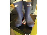 👀 👣HUNTER Ladies size 5 short Purple Lilac Short Wellies 👢 Wellington boots used