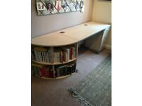 Matching desk,filing cabinet,corner unit & swivel chair