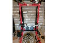 Power Rack and 7ft Olympic bar