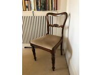 Six antique Regency era dining chairs