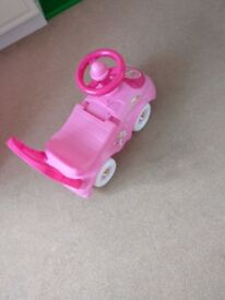 ride on toy baby good condition pink outdoors/indoors. Collection from Feltham high street