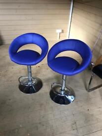 Purple bar stools dwell