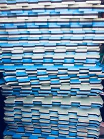 53 Jigsaw Marial Art /Judo /MMA Reversible Mats - Blue / Black / White 40mm x 1m x 1m