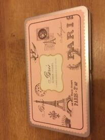 Paris rubber stamps and ink pad.