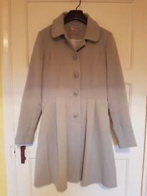 PETITE Skater Coat with Panelled Detail