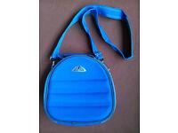Blue hard case makeup bag