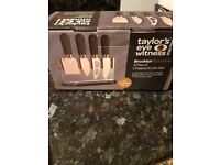 Taylors Eye Witness Brooklyn Rose Gold 4 Piece Cheese Knife Set
