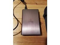 Iomega 750GB Portable Hard Drive with case
