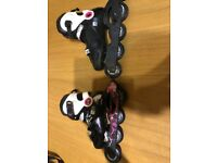 Girls Roller blades (in line skates) - Great condition- size 13