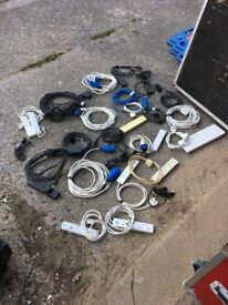 Power cables - 13 Amp, 16 Amp, Extension Leads etc.