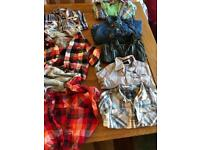Boys shirts bundle and pumpkin Halloween costume 12-24 months
