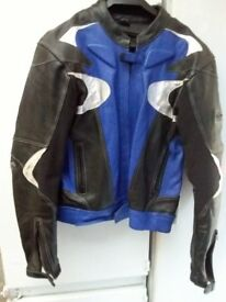 """frank thomas motorcycle leather top size 46uk euro56 APPROX 39""""CHEST"""
