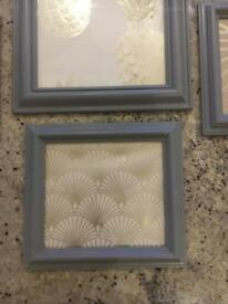 4 Slate Grey Frames with grey/gold inserts