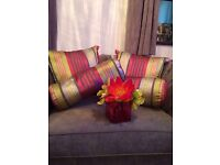 Brand new NEXT Cushions and flowers vase