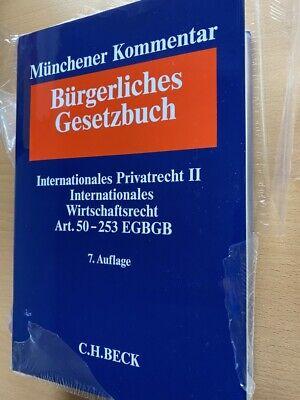 MÜNCHENER KOMMENTAR BGB Band 12 EGBGB IPR II Wirtschaftsrecht IntWR 7. Auflage