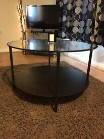 Beautiful wooden and glass coffee table