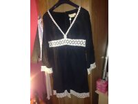 Genuine Michael Kors Black dress with white lace detail. Size 4 US (6-10 UK?) new with tags