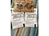 Two Chessington world of adventures tickets 11th June