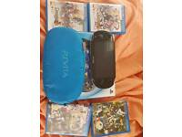 Ps vita oled + 5 games + case + 16gb memcard for sale