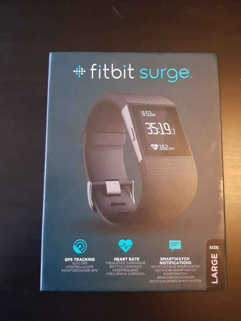 FITBIT Surge Activity Tracker/Watch in box- Mint condition