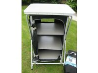 Collapsible 3 shelf storage unit, ideal for the awning when caravanning/motor home/camping