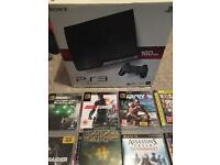 PS3 with 9 games and accessories