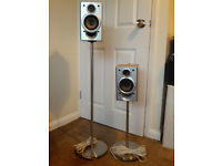 Pair of speakers & stands