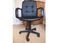 Eliza Tinsley Black Leather-look Office Chair