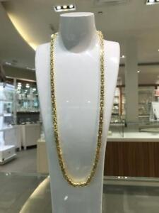 Brand New 10k Yellow Gold Bizantyne Link 30 inches 6 mm 65gr