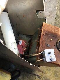 Boiler, surround and flue