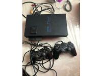 PS2 with 2 controllers and 8gb memory card