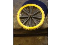 Nearly new solid wheel barrow wheel