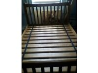 Wooden double Bed Frame.