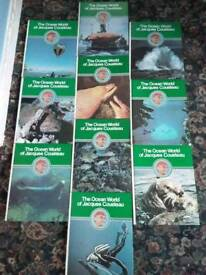 The Ocean World of Jacques Cousteau Ten rare books. Great condition £30