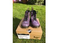 Brand new in the box dr martins purple sparkle boots size 7 kids