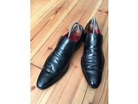 Jeffery West Designer Men's Black Shoes - Size 8