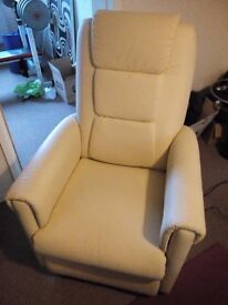 Relaxateeze Mobility Recliner- Cream