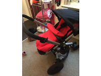QUINNY BUZZ RED AND BLACK BUGGY AVAILABLE