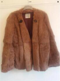Real mink fur jacket size 14