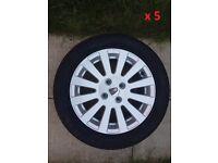 5x Alloys Rover 45 195/55 R 15