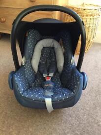 Maxi Cosi Cabriofix 2015 Special Edition 'Denim Hearts' Baby Car Seat