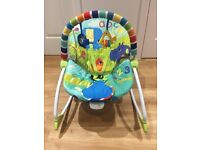 Bright Starts Baby Bouncer with vibrate function