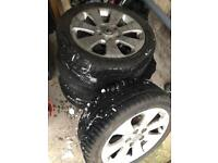 FOR SALE: 4 x wheels with WINTER tyres 225/45R17