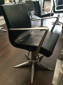 Designer Hydraulic Styling Salon Chair Black RRP £200 now £45 x 10