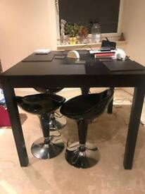 IKEA BLACK SOLID PINE TABLE